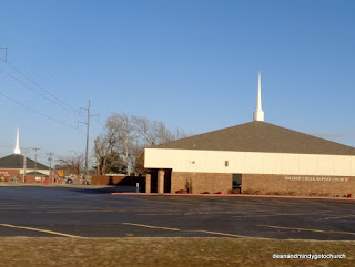 matching steeples in Midwest City, Oklahoma