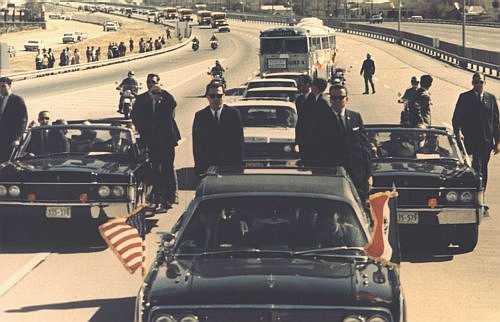 Secret Service agents protecting President Johnson