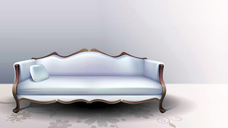 Interior White Sofa