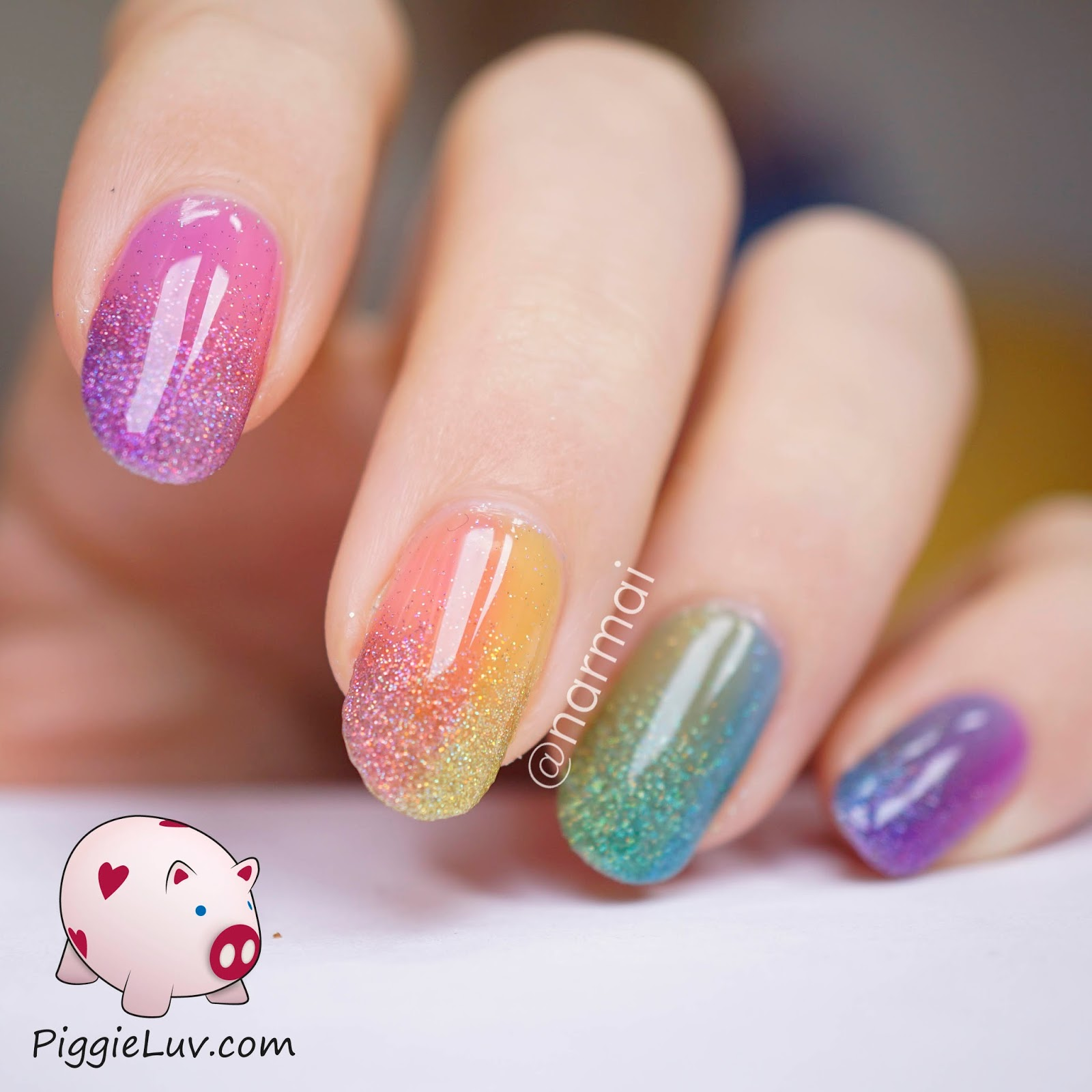 Piggieluv double gradient glitter rainbow nail art with opi sheer of gradient combined the glitter gradient and the rainbow sideways gradient it turned out rather magnificent not to mention sparkly and shiny prinsesfo Gallery
