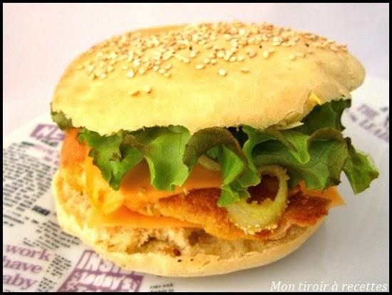 burger poulet épices