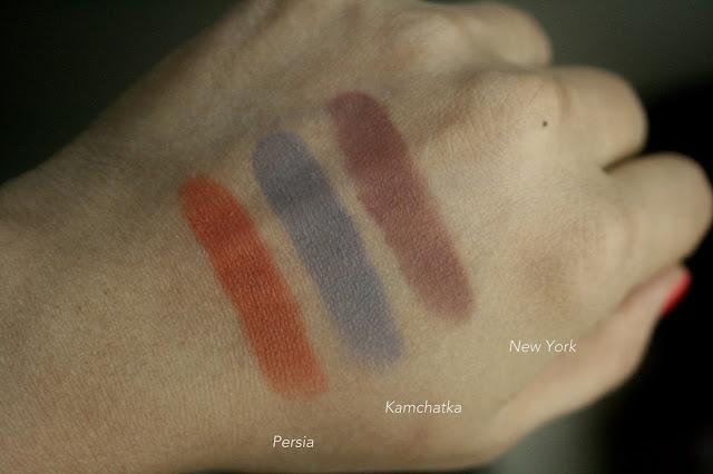 NARS SIngle Eyeshadows Refills - Ashes To Ashes, Kamchatka, Persia, Sophia, New York, Nepal Swatches