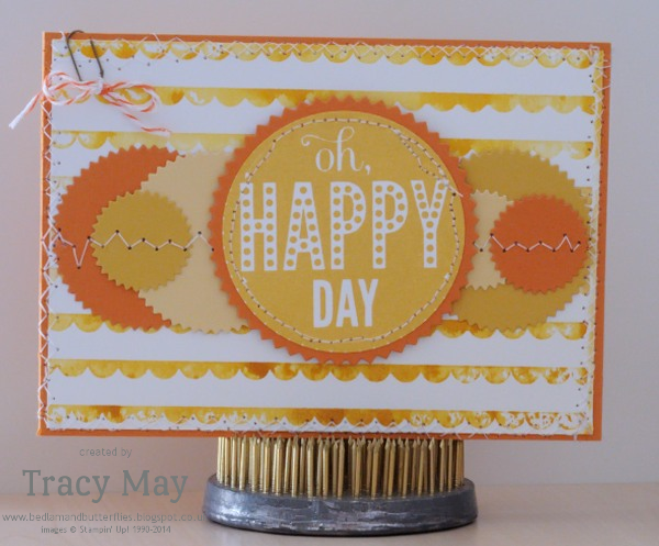 Stampin up Starburst Sayings Scallops Embossing Folder sunshine card Tracy May card making ideas