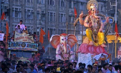 Hd wallpaper ganpati - Ganesh Utsav Celebration In Mumbai God Wallpapers