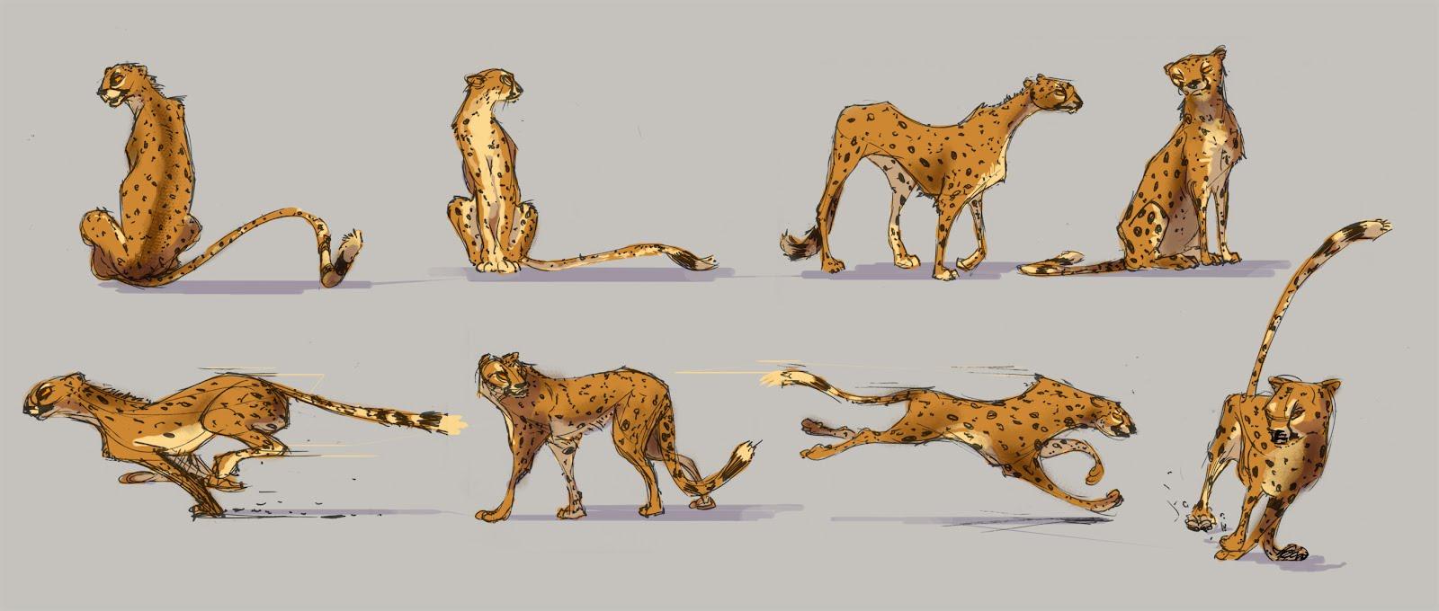 Aaron's Blah Blah Blog: Cheetah designs