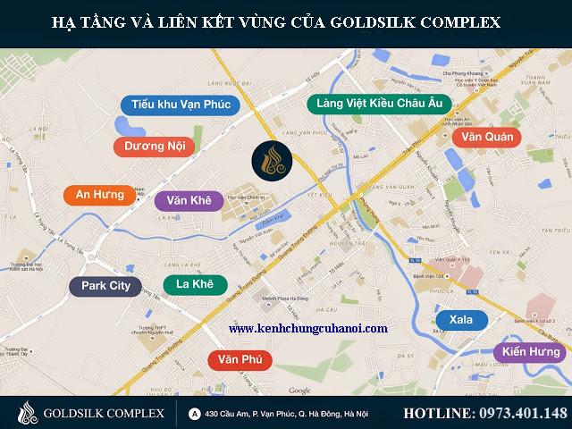 Vị trí chung cư Gold Silk Complex