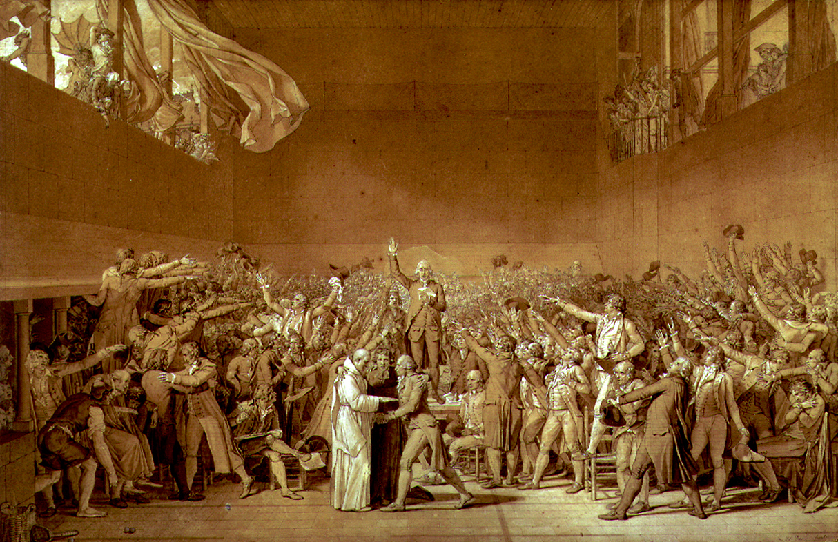 The Clever Pup Jacques Louis David The Tennis Court Oath 1791