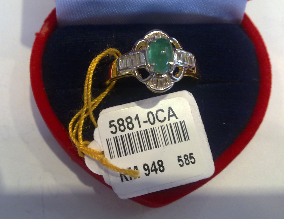 Elegance And Precious Shoppe Koleksi Cincin Emas 750 Dan Permata
