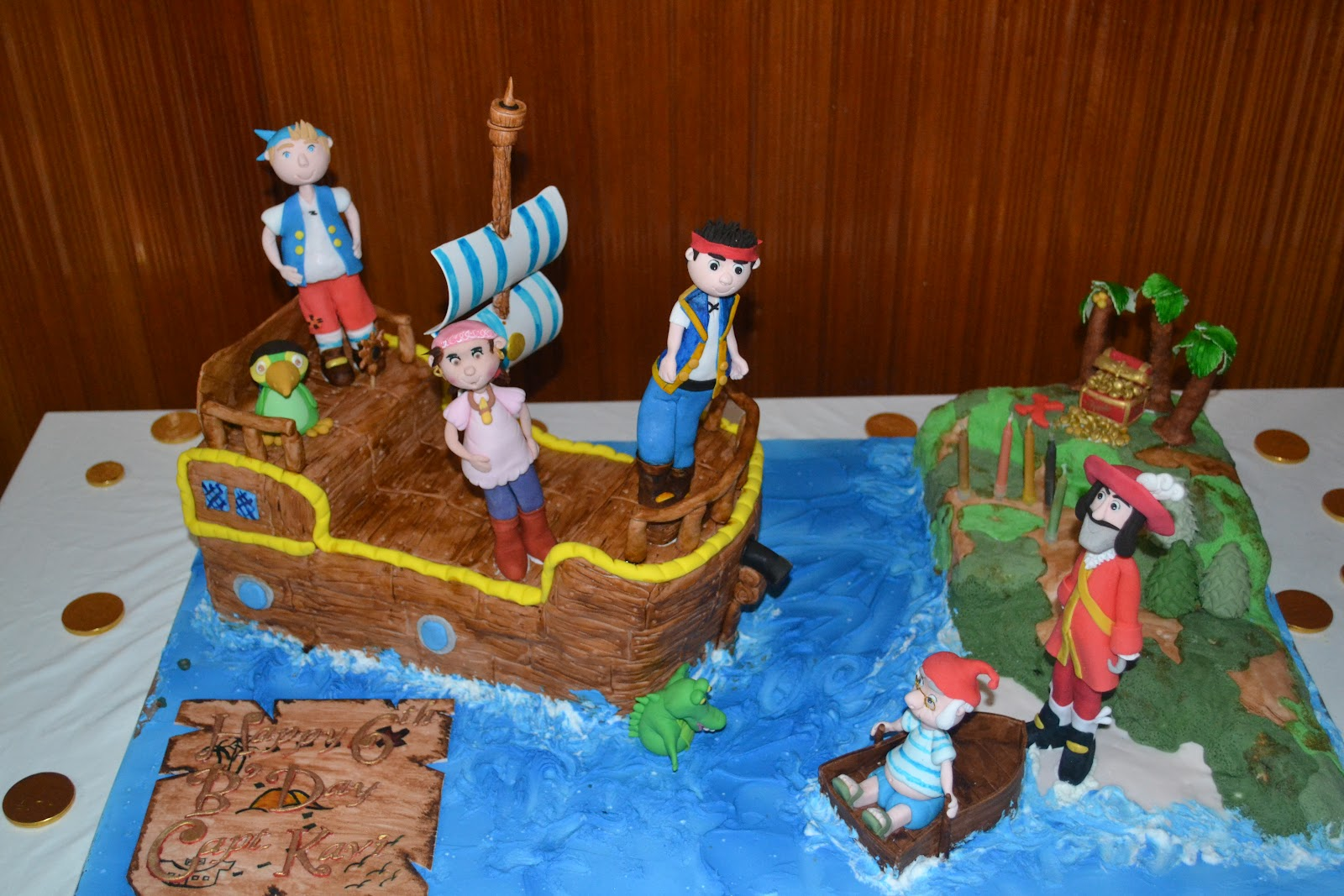 Cakes Cakes N More Jake And The Neverland Pirates Birthday Party