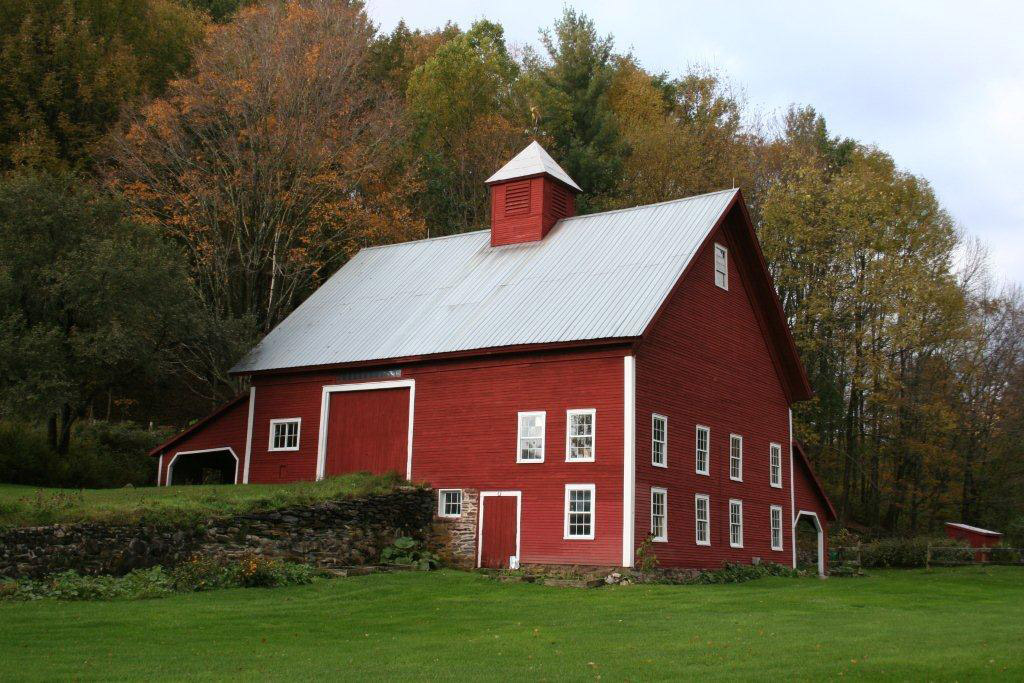 1 Meticulously Restored And Lovingly Maintained This Old Bank Barn Is Still An Eye Catcher At Furnace Brook Farm In Chittenden Vermont