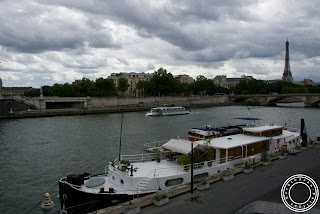 Image of the The Seine river and Tour Eiffel in Paris, France