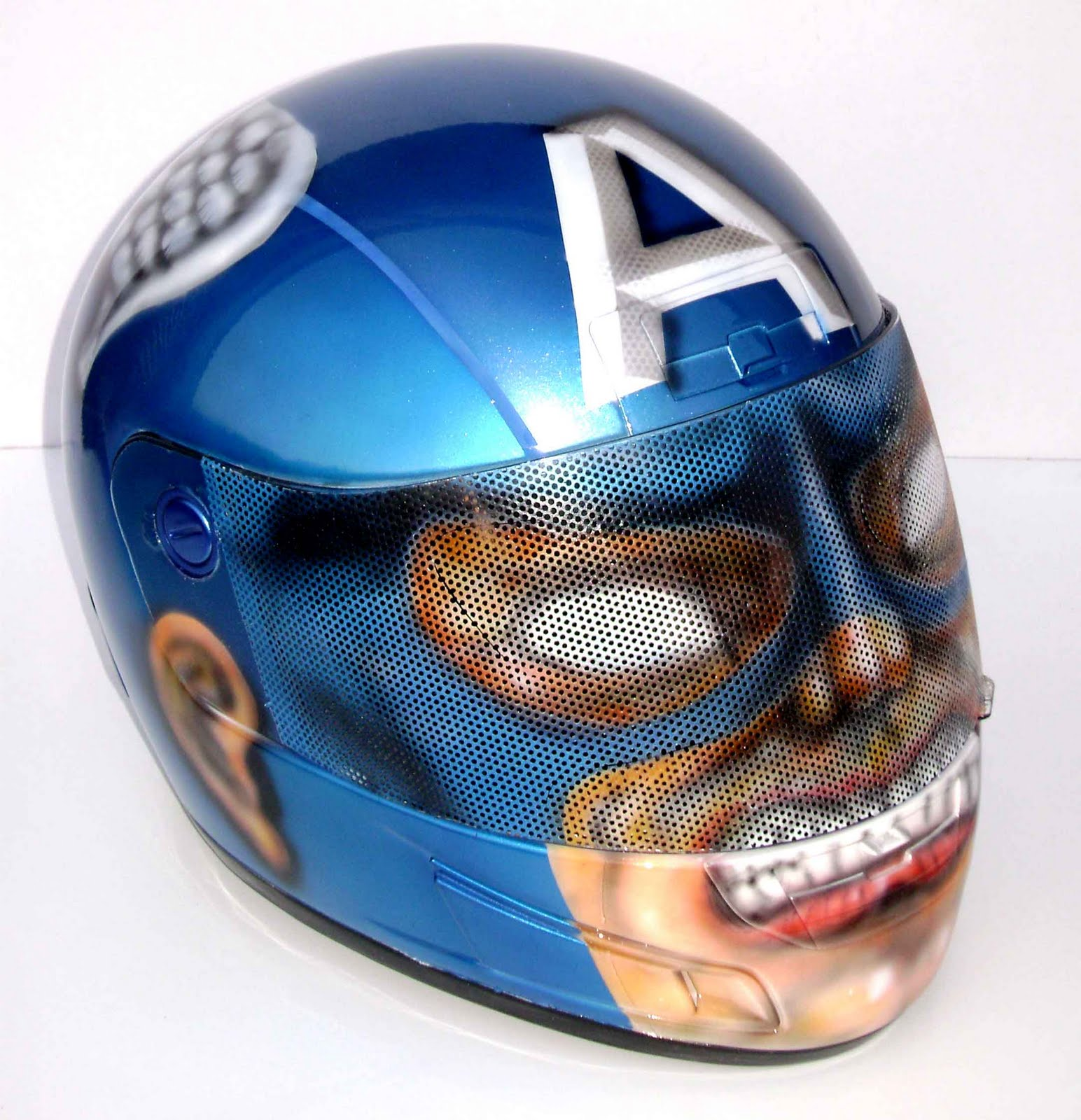 Angeluz Creations Custom Motorcycle Helmet Quot Captain America Quot
