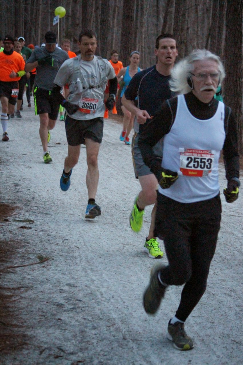 older run Older people who run several times a week expend the same amount of energy when they walk as a 20-year-old.