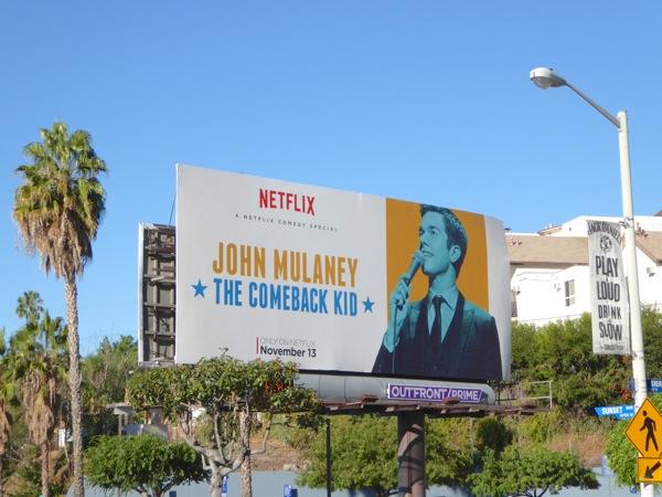 John Mulaney Comeback Kid special billboard