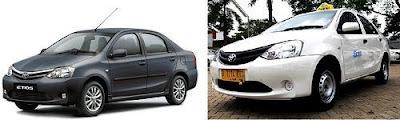 Toyota etios menjadi Taksi