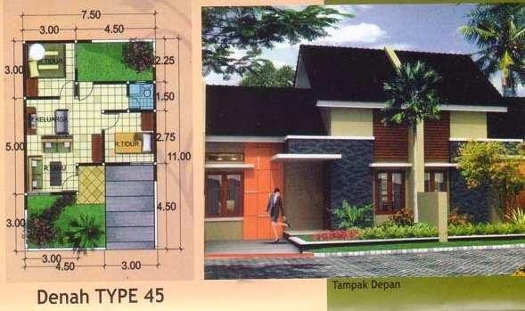 desain rumah minimalis type 54 7