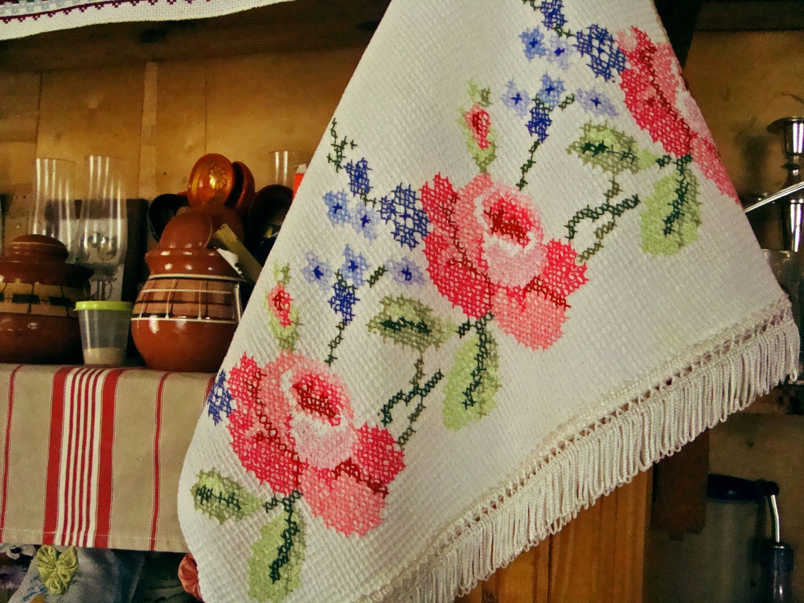 Вышивка на полотенце - podarki