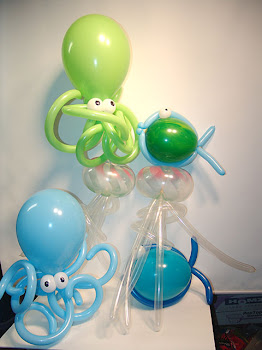 Modelos de polvo de balões!