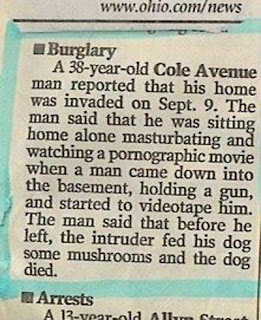 funny burglar masturbating newspapers fail