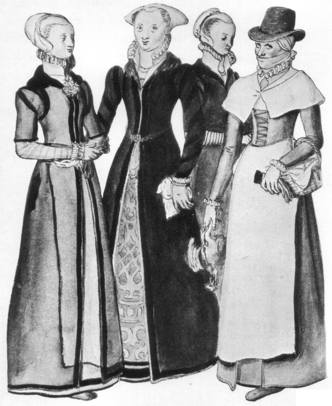 elizabethan era women In addition, there is a bewildering variety in english elizabethan womenswear just like today, not all women dressed in identical outfits what a woman wore depended on her age (older women preferred more traditional styles), background (rural noblewomen weren't privy to the latest london fashions), body type (some.