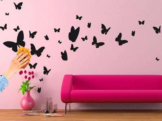 Mille idee casa lo stencil sul muro for Stencil per pareti