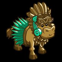 Aztec Cow Statue