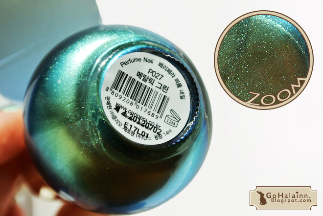 Peripera Perfume Nail P027 Metallic Green Review
