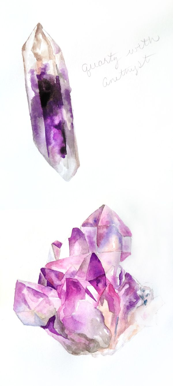 Amethyst Quartz Water-Colour Art - Rebel66 Blog