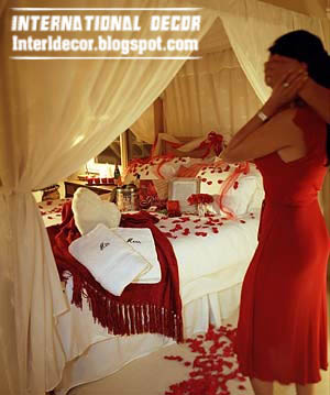 Romantic Valentine Bedroom Interior Design : ... your bedroom with red bedding and flowers for Valentines day 2013