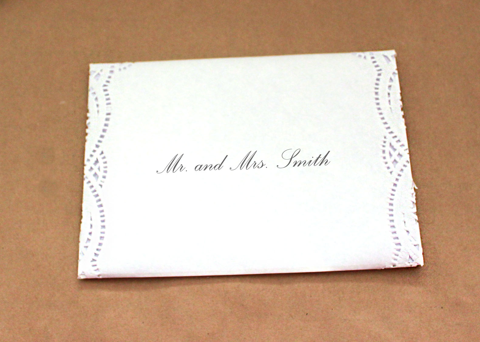 Laurl Designs: Basic Paper Doily Envelope Liner for Wedding Invitations