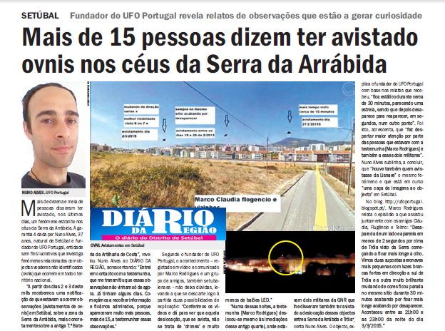 OVNIs na Serra da Arrábida - Setúbal