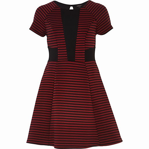 river island red dress