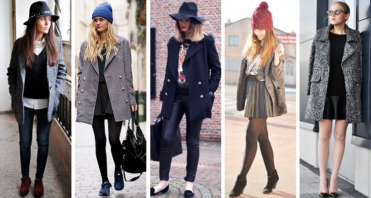 fashion bloggers wearing peacoat trend lookbook chictopia