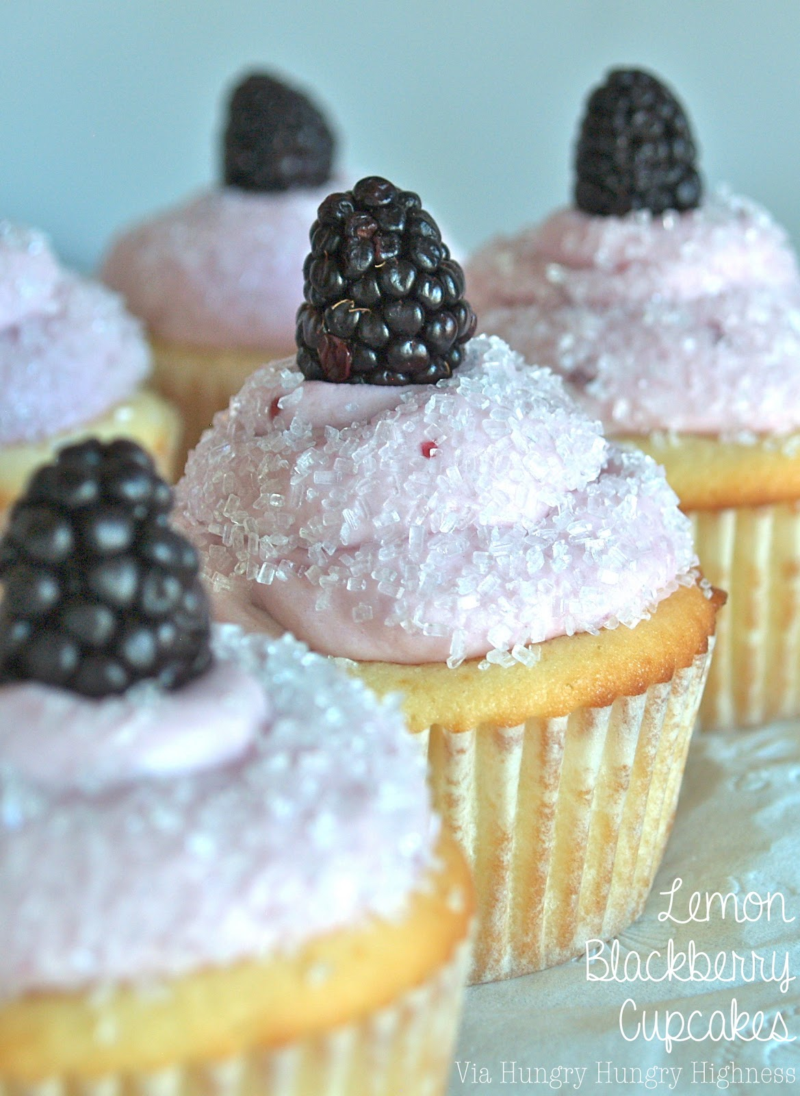 Hungry Hungry Highness: Lemon Blackberry Cupcakes