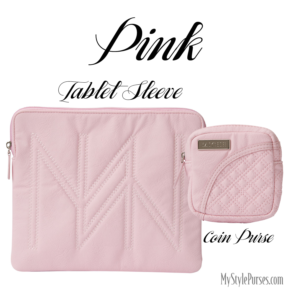 Miche Pink Tablet Sleeve and Coin Purse available at MyStylePurses.com