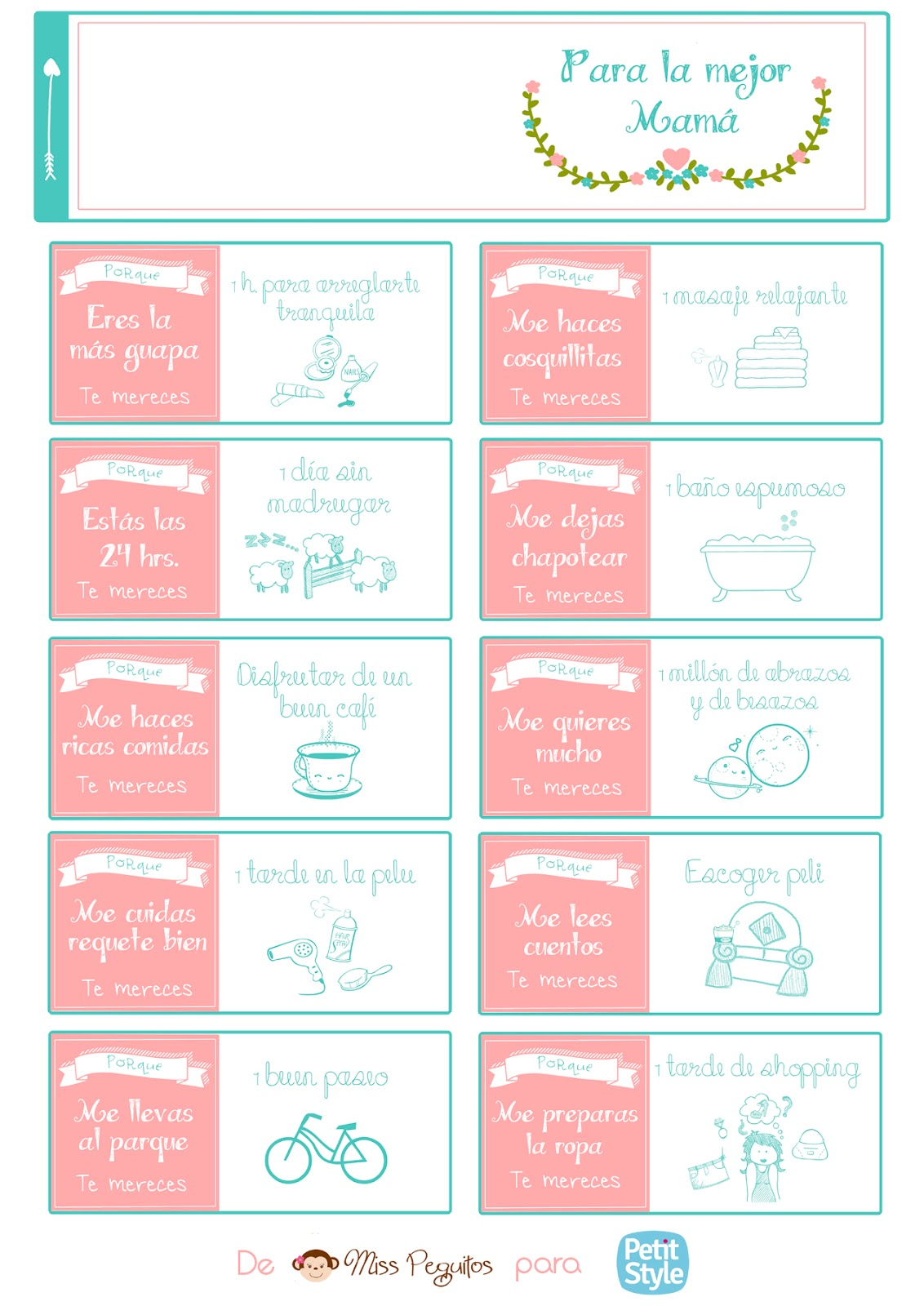 diy día de la madre imprimible gratis freebies free printable mother day's