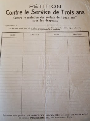 """Pétition socialiste contre la """"loi des trois ans"""""""
