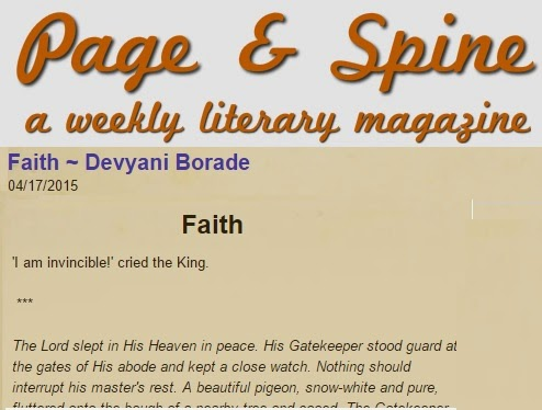 Verbolatry - Devyani Borade - Faith - Page And Spine