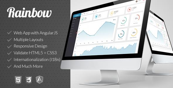 Responsive Admin App with AngularJS