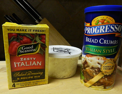 Combine dry Italian Dressing mix, grated Parmesan cheese, Italian ...