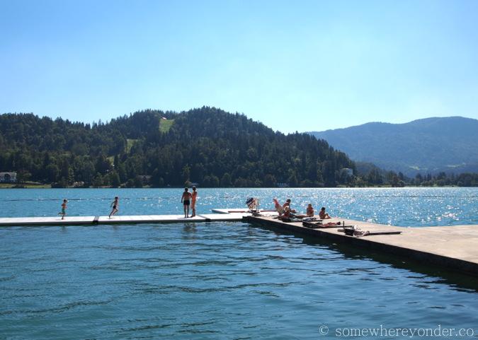 Public lido - Lake Bled, Slovenia