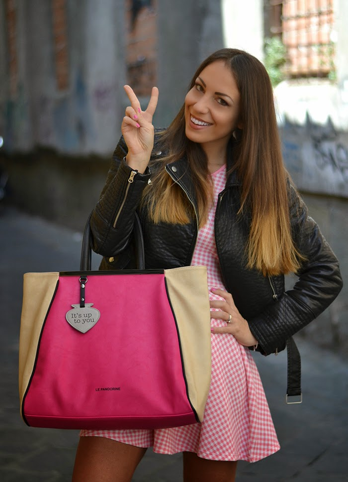 fucsia maxi bag