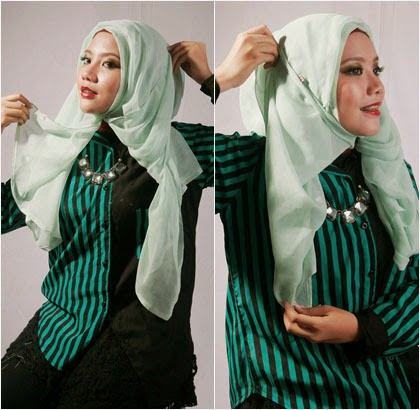 Tutorial Hijab Paris Aksen Wave 5