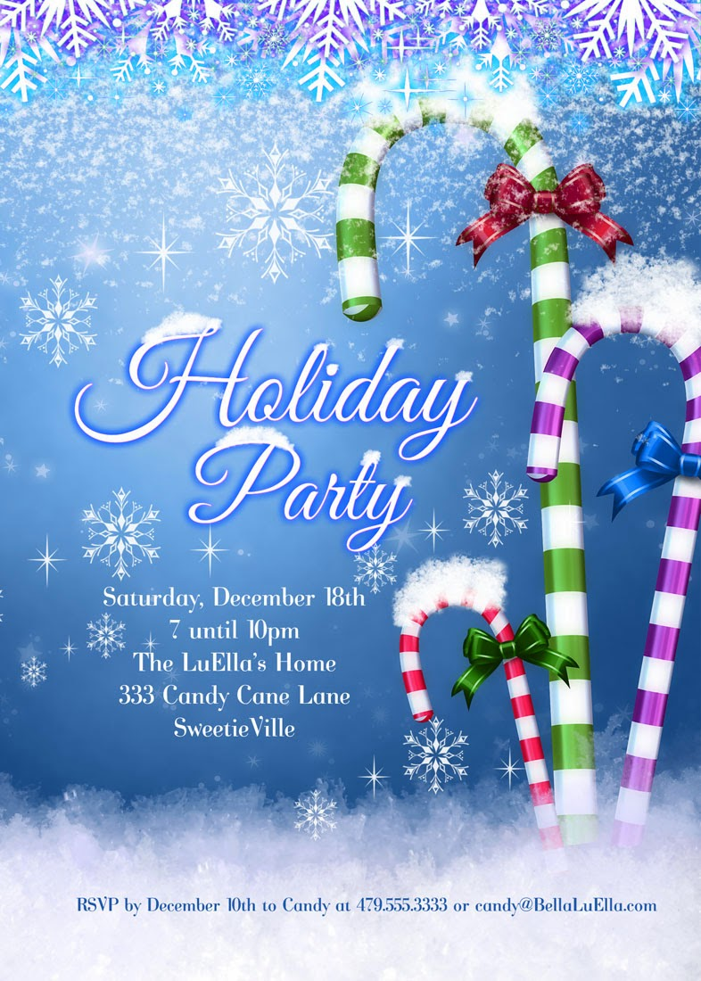 bella luella  christmas and holiday party invitations