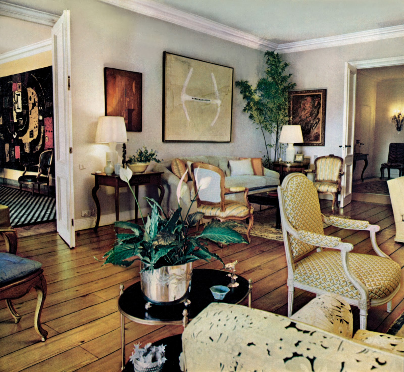 abstract art in traditional interiors part 2 the masters of the mix