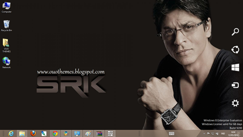 Shahrukh Khan Theme For Windows 7 And 8