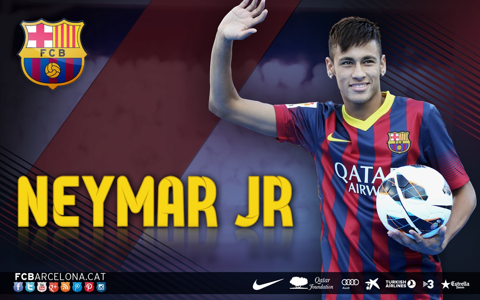 wallpaper neymar fc barcelona 2013-2014