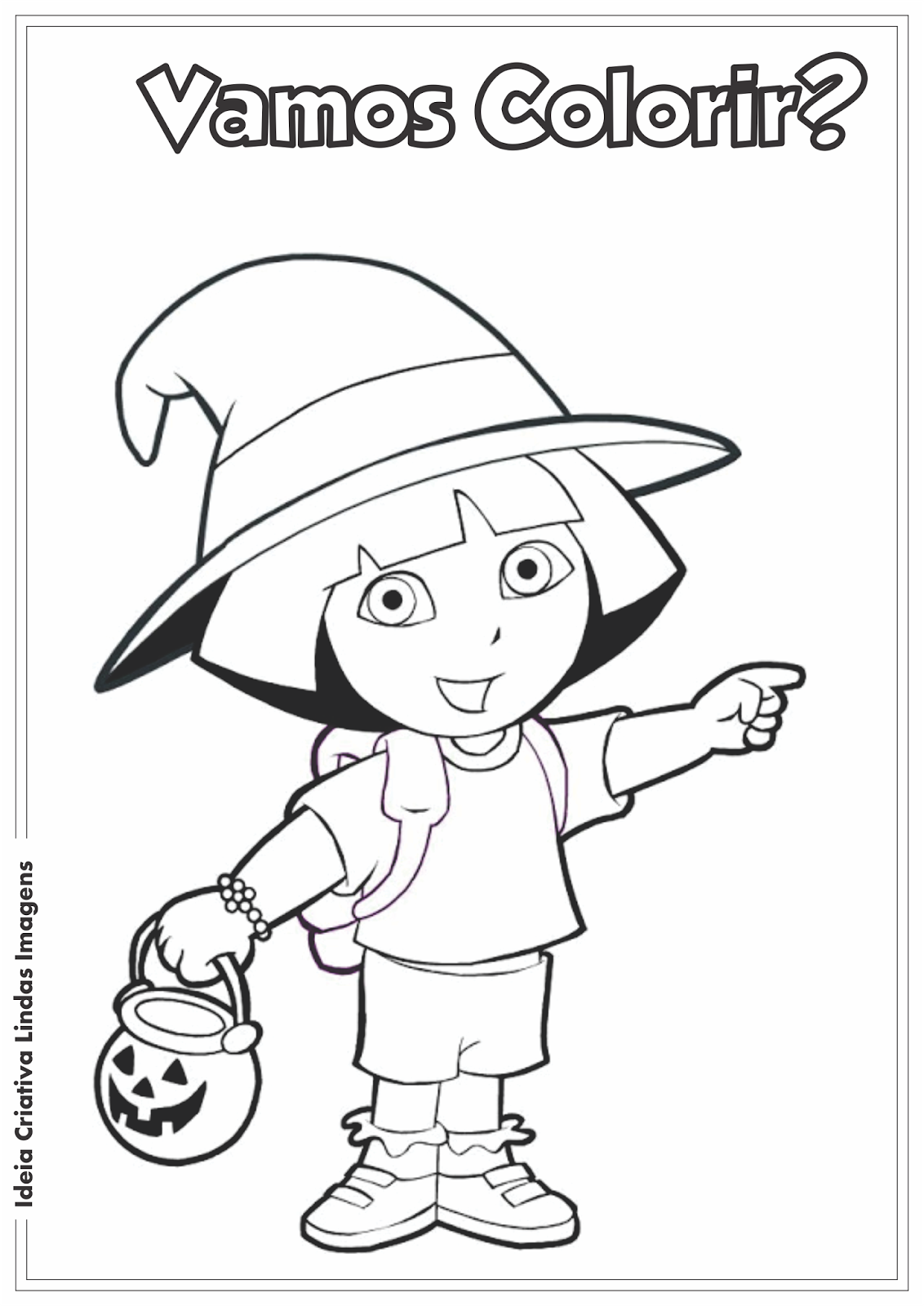 Dora a Aventureira desenho para colorir