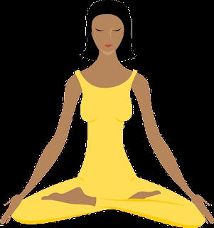 dibujo haciendo yoga