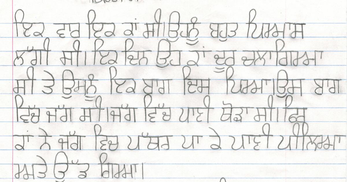 Punjabi culture essay in punjabi language